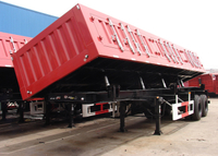 26 cbm Dump Semi Trailer with 2 BPW axles and hydraulic Side Discharge system for sands and bulk materials, Dump Semi Trailer,Tipper