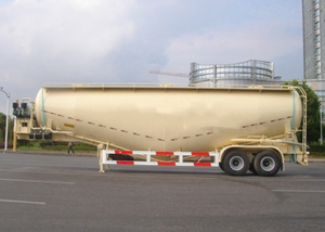 60000L Dry Bulk Pneumatic Tanker Semi Trailers with 3 Axles for Bulk Charcoal Powder , Cement Tanker Semi Trailer