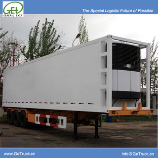 9303XLC-40 Feet 3 axls Koegel FRP+PU+FRP composite Insuated and Refrigerated container box semi-trailer