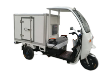 insulated Tri-wheel motor tricycle with All - Closed FRP / GRP insulated Sandwich box