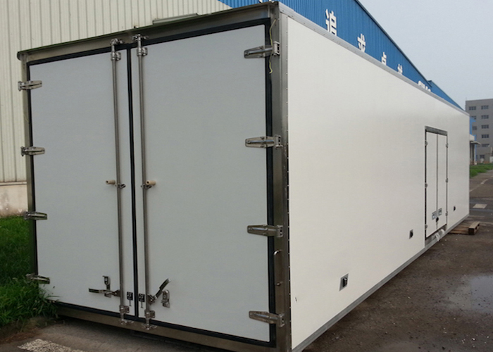 Aluminum Profiles Assembled All - Closed FRP / GRP Refrigerated Truck Body And Sandwich Panel Kits,Germany Wet-Wet Composite