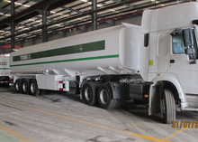 43cbm 3 Axles Carbon Steel Tanker Semi Trailer for fuel and diesel delivery