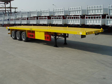 40 Foot FlatBed Semi Trailer 3 Axles For ISO Container Transportation