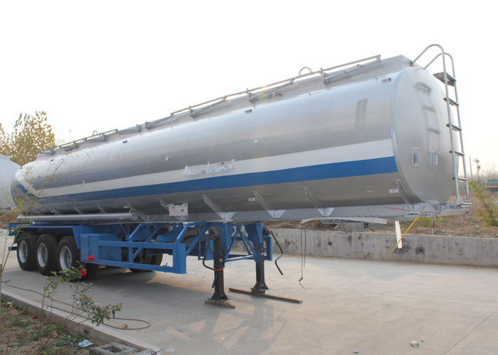 35000L High Safety Aluminum Tanker Trailer with 3 Axles for Organic Chemical