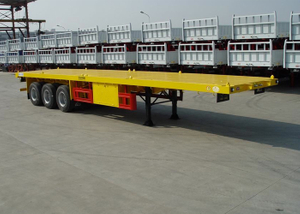 40ft Heavy Duty FlatBed Container Semi Trailer With 3 Axles Customized Color