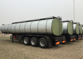 36000L INSULATED Carbon Steel Tank Semi Trailer with 3 Axles for Palm Oil