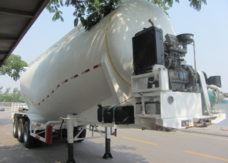 59000L Dry Bulk Pneumatic Steel Tanker Semi Trailers with 3 axles for bulk cement powder, Cement Tanker Semi Trailer
