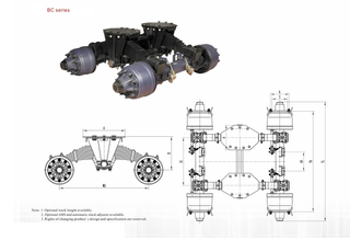 Bogie suspension -BC Separate Platform Series-24T 32T
