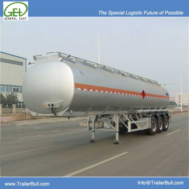 40cbm 3 Axles Carbon Steel Tanker Semi Trailer, High Quality China Fuel Tanker Trailer