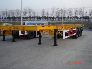 48 Foot Gooseneck Skeleton Container Semi Trailer 3 axles