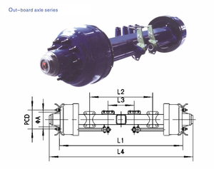 American Type Axles Out–board Axle 8T-20T