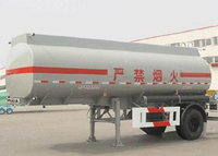 13000L Aluminum Tanker Semi Trailer with 1 Axle for Urban Fuel Transit