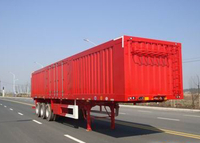 45ft Roof Opened Steel Dry Freight Box Trailer with 3 Axles for Bulk Material And Mine Cargos,Drop Side Semi Trailer , Steel Box