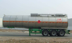 40000L Aluminum Tanker Semi Trailer with 3 BPW axles for Organic Chemical of Dibutylether