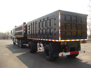 25 Feet Draw Bar Box Trailer with 2 Axles