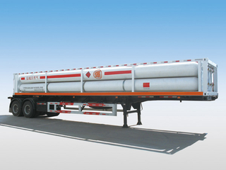 LH2 Tube Skid Semi-trailers with 8 Tubes And 2 Axles for 16000L CNG,CNG Tube Skid Tanker
