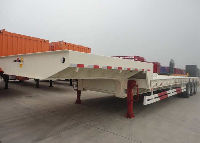 15m 150T Low Bed Semi Trailer with Tridem Pendel Axles for Super Heavy Machine ,Low Bed Trailer