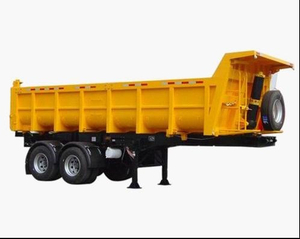 30cbm Dump Semi-trailer with 2 BPW axles and hydraulic rear Discharge system for 40 Tons