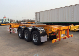 40 Feet Low Clearance Skeleton Semi-Trailer with 3 axles and gooseneck for organic chemical tanker container