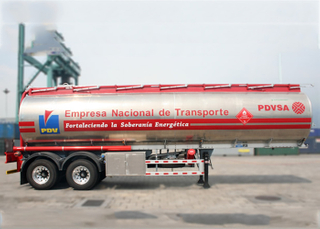 36000L Light Aluminum Tanker Trailer with Super Single Tires for Pure Fuel And Jet