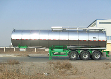 43500L Insulated Carbon Steel Tank Semi Trailer with 3 Axles for Palm Oil