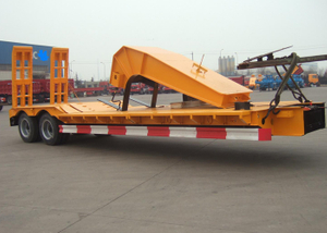 Low Bed Semi Trailer CKD for Container Shipment And Off Site Assemble,Low Bed Trailer