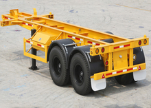 20ft Skeleton Semi Trailer with 2 Axles for Super Heavy Container And Organic Tank Container