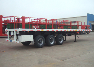 40 Feet Flatbed Semi Trailer with Super Single Tire,Commercial Flatbed Trailer with 3 Axles