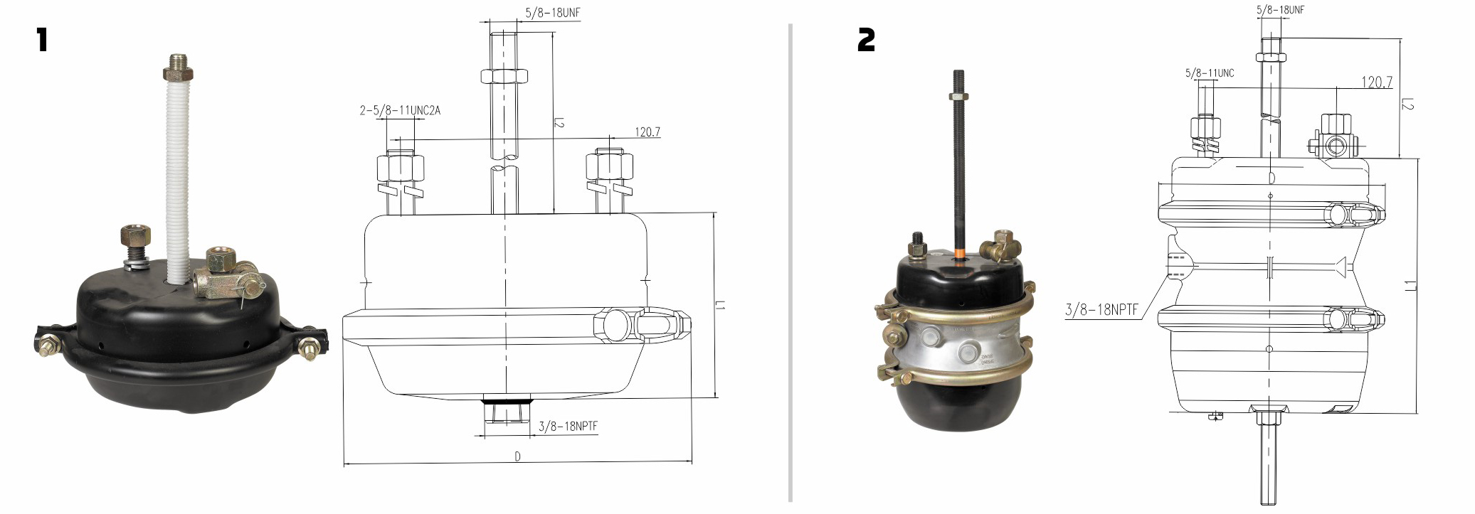 Air Brake Chamber-Vehicles Parts