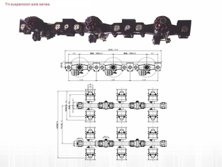 Tri Suspension Pendel Axle-90T 120T 150T
