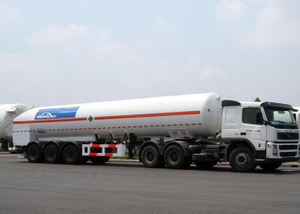 LNG Tanker Semi Trailer,52600L LNG Tanker Semi Trailer with 3 Axles for Liquid Natural Gas